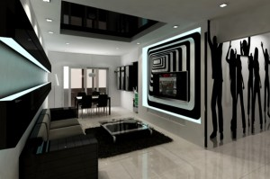 Black-and-white-modern-living-room-design