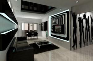 Black-and-white-modern-living-room-design