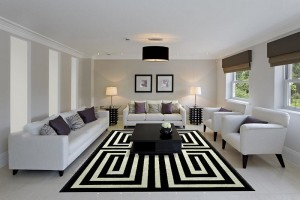 Captivating-rug-ensures-that-this-cool-living-room-has-a-striking-centerpiece
