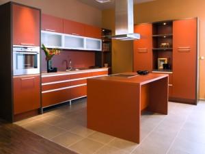 Beautiful and modern kitchen interior.