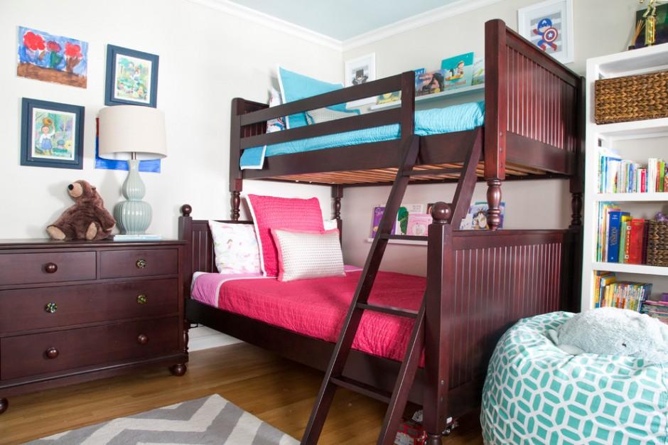 Двухэтажная кровать для разнополых детей