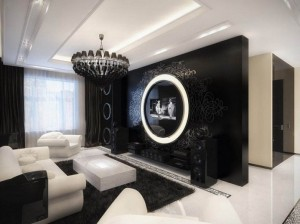 Elegant-Black-and-White-Room-Designs-Wonderful-Black-Pendants-Chandelier-and-White-Sofas-Combination-Contemporary-Interior-815x6111-718x538
