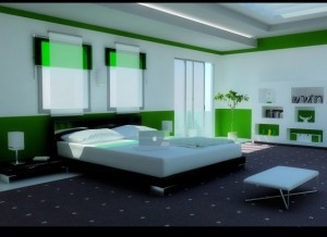 Modern-Green-Bedroom-582x423