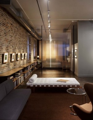 Modern-Reading-Nook-With-Exposed-Brick-Walls