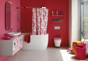 Pink-Bathroom-Ideas-For-Valentine-Day-by-Laufen-587x409
