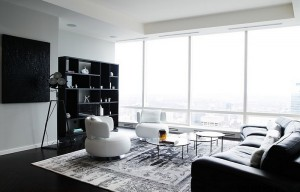 Posh-black-and-white-living-room-with-plenty-of-natural-ventilation