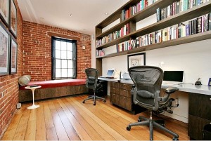 San-Francisco-Home-Office-With-Exposed-Brick-Walls