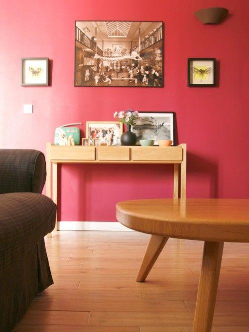 Розовая гостиная в стиле минимализм