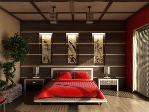 Спальня оформленная в японском стиле