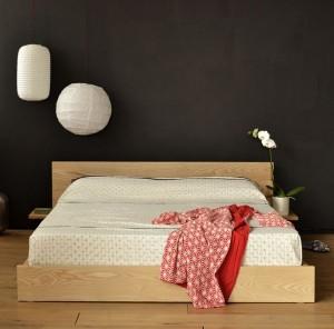 Японский минимализм в оформление спальни