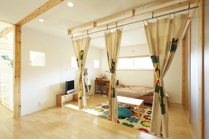 Легкие шторы в замен массивной стены