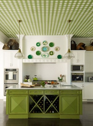 kitchen-island-turquoise-green