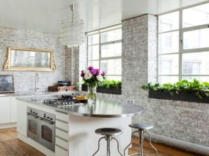 modern-kitchen-dining-room-white-painted-brick-wall-1