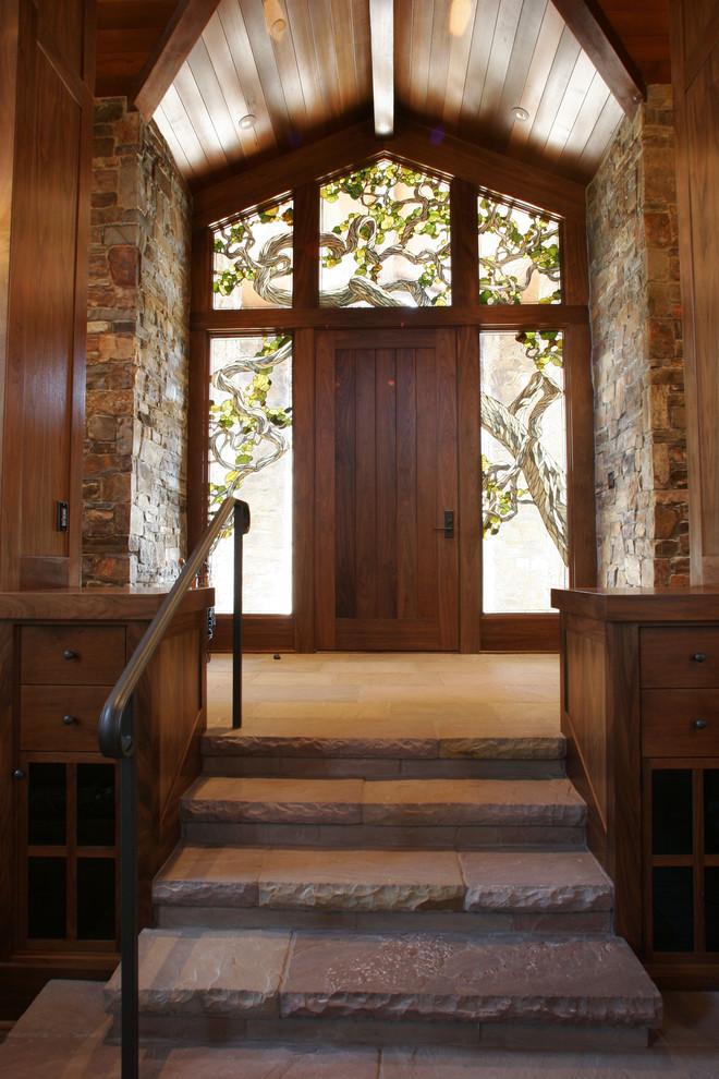 Витраж входной двери