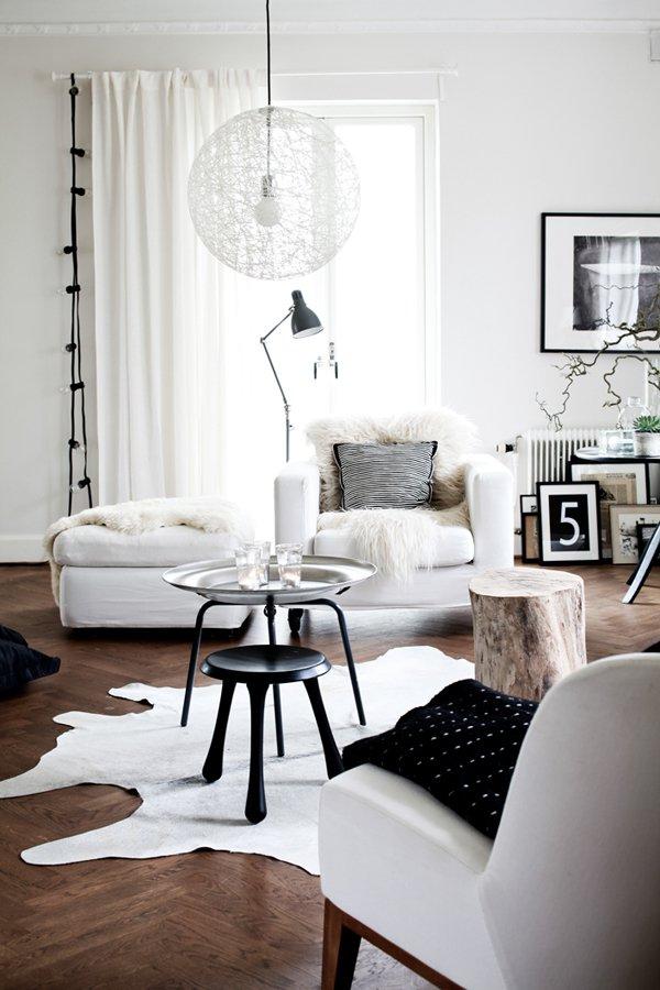 Черные и белые цвета в модерн стиле