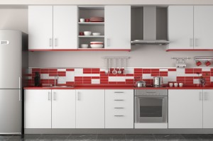 white+kitchen+with+red+backsplash