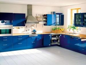 Charming-Blue-Kitchen