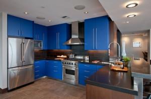 Contemporary-Blue-Kitchen
