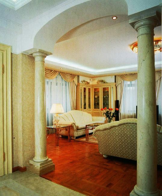 Дизайн арок с колоннами