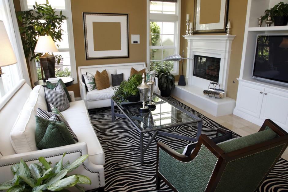Дизайн гостиной с небольшими окнами
