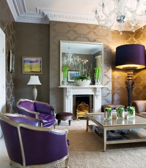 Eclectic-living-room-adds-purple-in-a-way-you-simply-cannot-miss