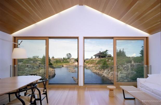 использование натуральных материалов при оформлении гостиной в японском стиле