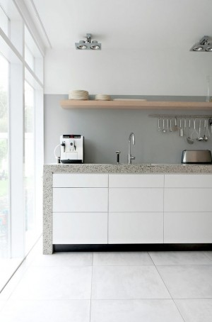 bright-white-cabinets-and-grey-counter-grey-walls