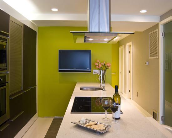 кухня салатового цвета