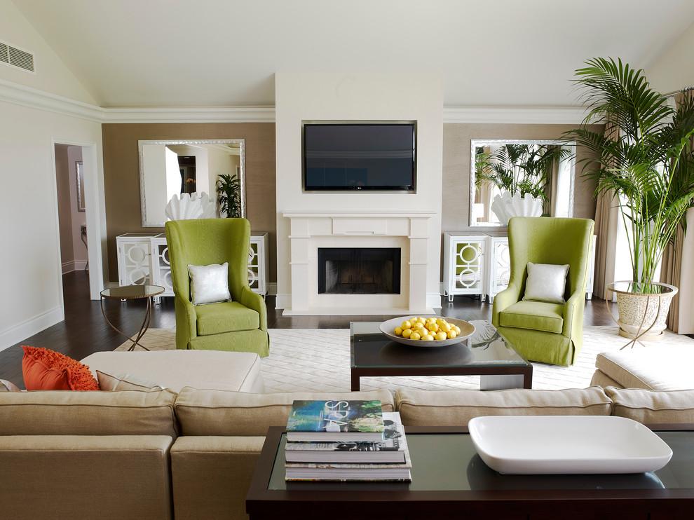 Интерьеры гостиных фото в белых и оливковых тонах