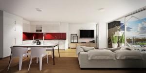 red-white-studio-apartment