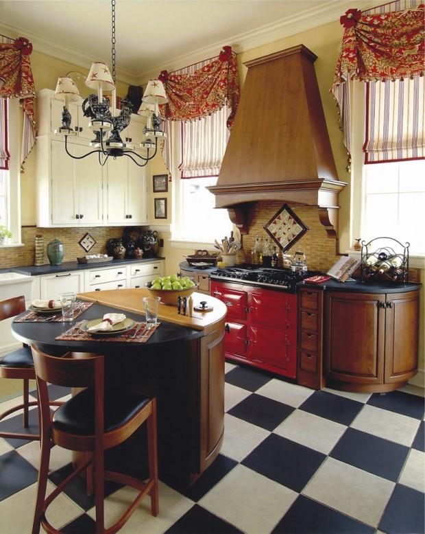 дизйн штор для кухни