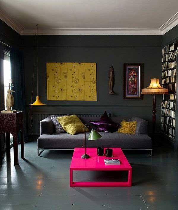 Комната черного цвета дизайн