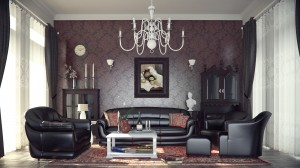 Modern-Classic-style-interior-design-red-color-scheme