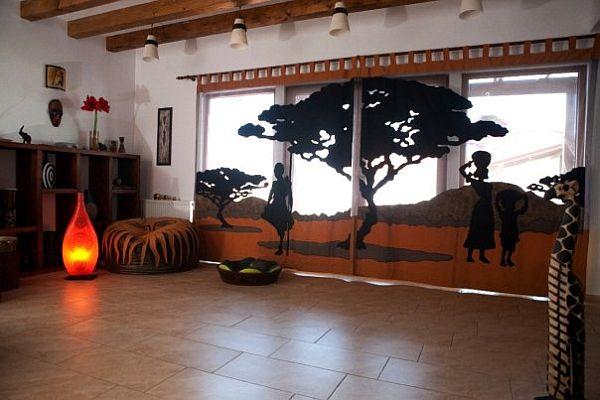оригинальные шторы в африканском стиле