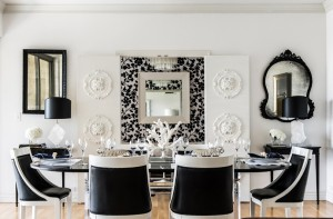 black-white-black-chic-contemporary-dining-room-Janet-Rice