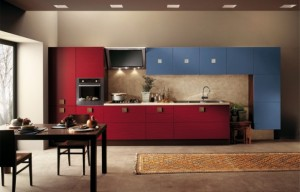 scavolini-Red-and-Blue-warm-Kitchen-Design-582x374
