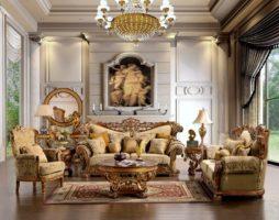 Роскошь классических интерьеров в гостиных