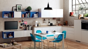 A-trendy-comniation-of-the-kitchen-and-dining-room-for-the-small-studio-apartment