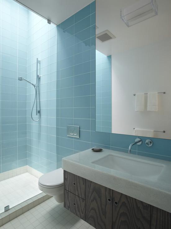 голубая ванная