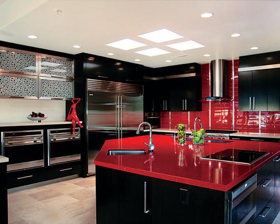кухня черного цвета