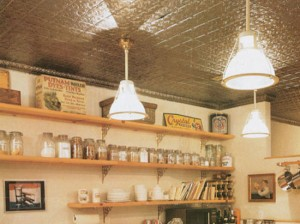 country-kitchen-with-aluminum-ceiling-tiles