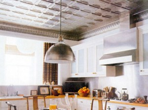 kitchen-with-aluminum-ceiling-tiles