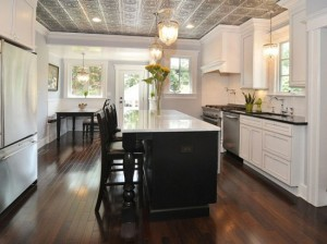white-kitchen-with-ceiling-tiles
