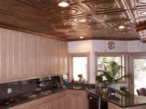 white-kitchen-with-copper-ceiling