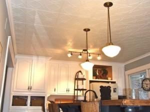 white-kitchen-with-styrofoam-ceiling-tiles
