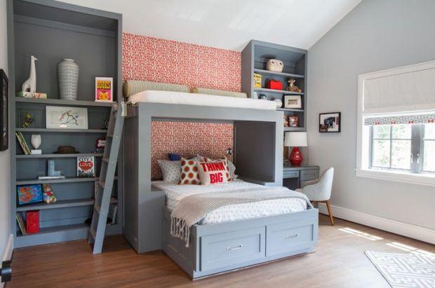 Кровать под потолком – новое слово в оформлении интерьера - 33 фото примера