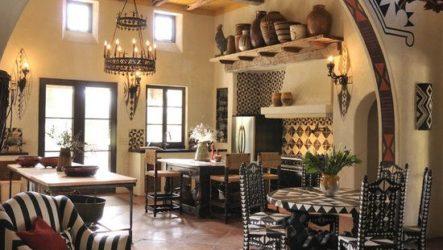 Интерьер кухни в африканском стиле