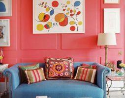 Коралловый цвет в домашнем интерьере