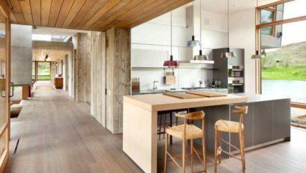Сталь в интерьере современной кухни