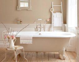 Спа-эффект бежевой ванной